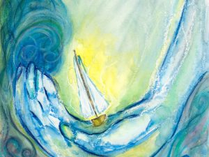Painting of Boat in God's Hand
